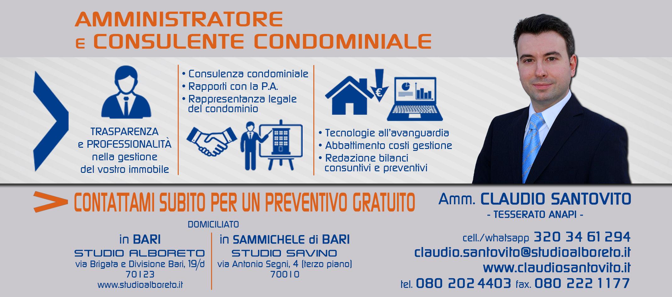 Claudio santovito amministratore di condominio a bari for Amministratore di condominio doveri